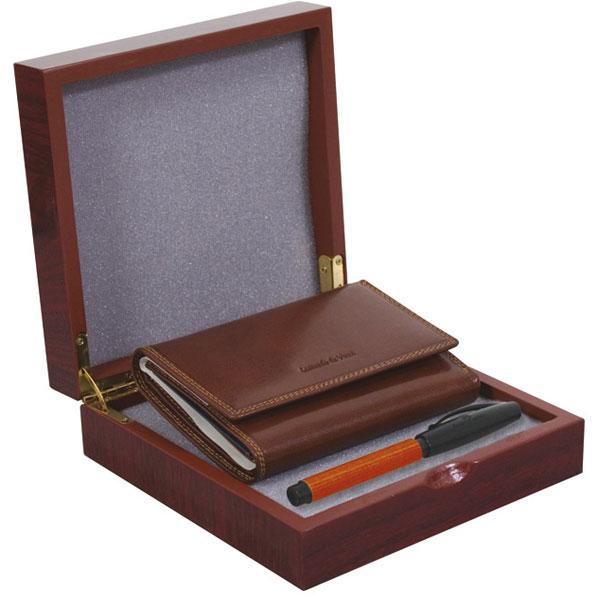 Set kožni ženski 202-2 novčanik+olovka Polly Bell FC bordo Fornax braon 401355 - ODDO igračke