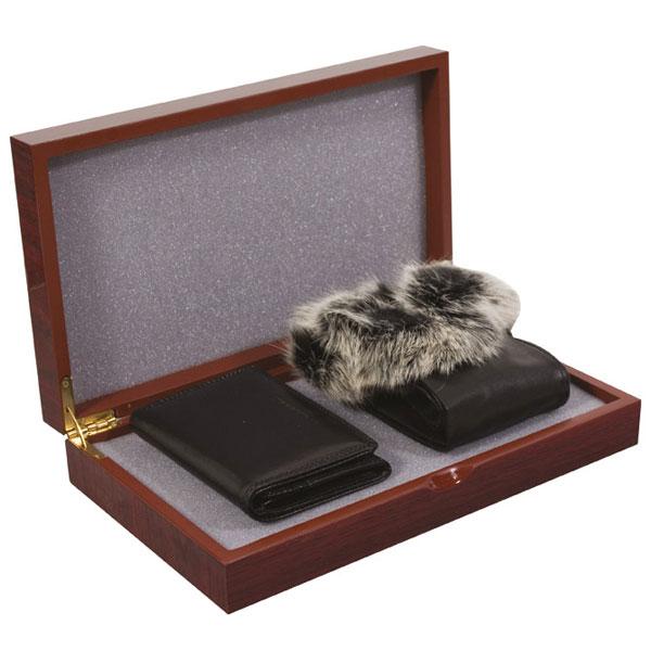 Set kožni ženski 204-1 novčanik+rukavice Fornax crni 401357 - ODDO igračke