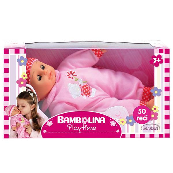 Lutka Beba Bambolina Dimian 30cm priča 50 reči DI220PR - ODDO igračke