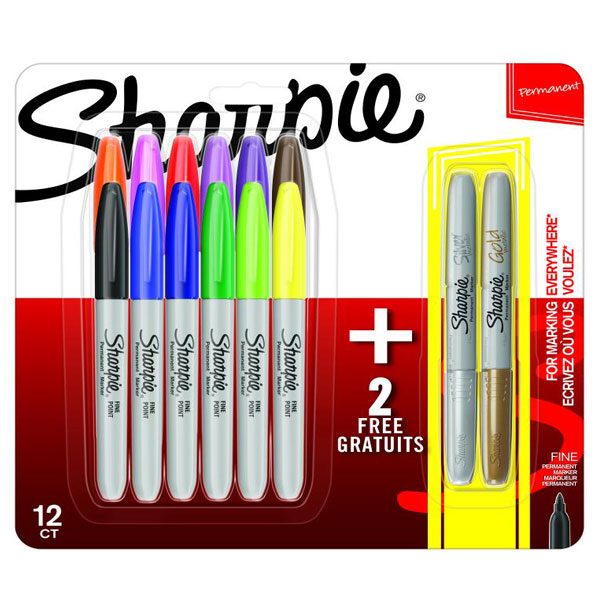 Sharpie set markera Fine 12+2 blister SH61126 - ODDO igračke