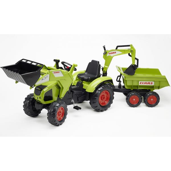 Traktor Falk na pedale sa prikolicom i kašikom Claas 1010w - ODDO igračke
