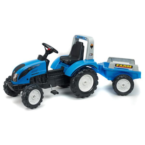 Traktor Falk na pedale sa prikolicom Landini Power Mondial 1050ab - ODDO igračke