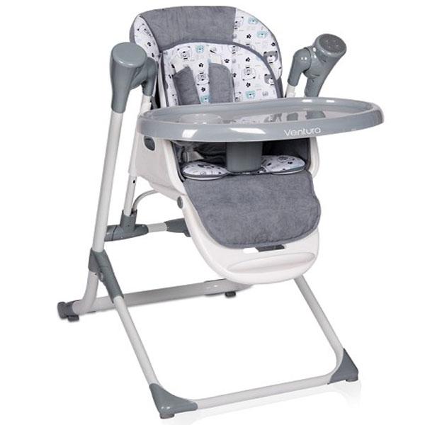 Stolica za hranjenje Ventura Grey Bertoni 10100301901 - ODDO igračke