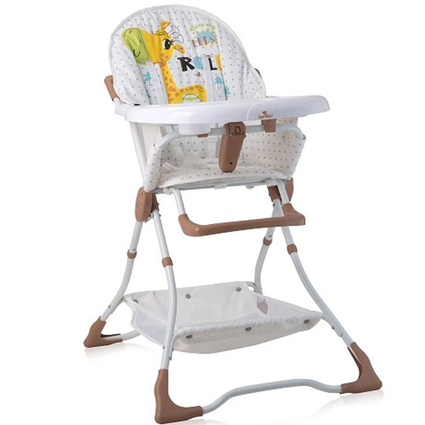 Stolica za hranjenje Bonbon Beige & White Giraffe Bertoni 10100311925 - ODDO igračke