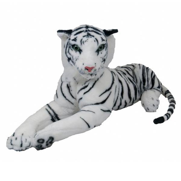 Pliš tigar ležeći beli 100cm 11/3717 - ODDO igračke