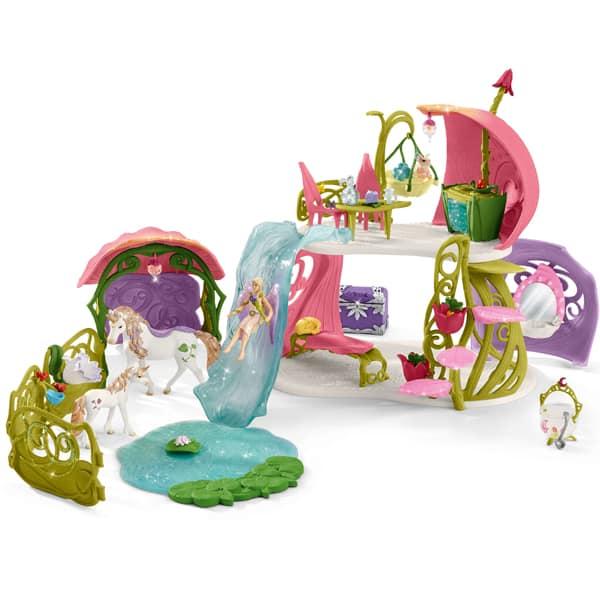 Schleich Bayala Cvetna kuća sa jednorogom, jezerom i stajom 42445  - ODDO igračke