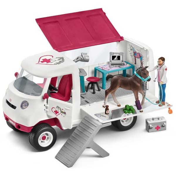 Schleich set Mobilna veterinarska stanica sa ždrebetom 42370  - ODDO igračke