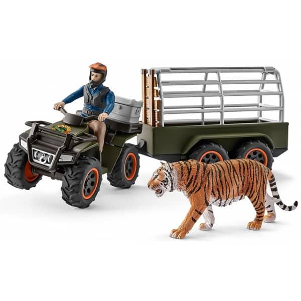 Schleich set Quad motor sa prikolicom i rendžerom 42351  - ODDO igračke