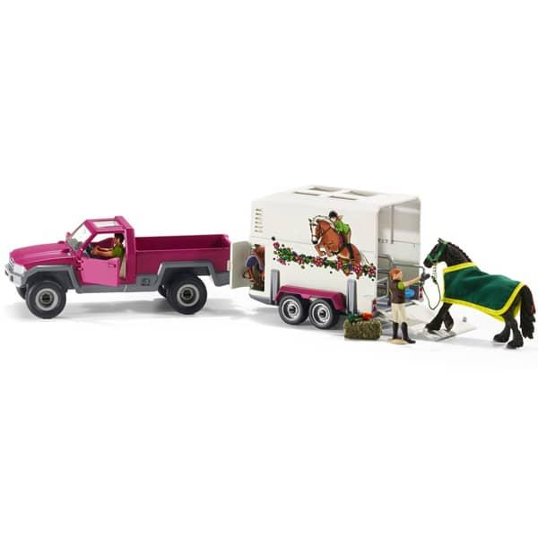 Schleich set Auto sa prikolicom za prevoz konja 42346 - ODDO igračke