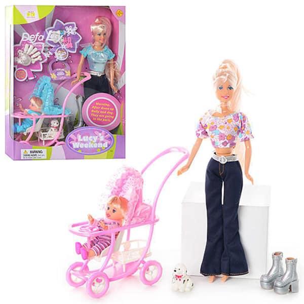 Lutka Defa sa kolicima bebom i ljubimcem 3ass 20958 - ODDO igračke