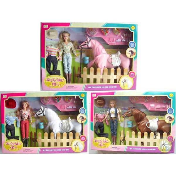Lutka Defa sa konjem i raznim dodacima 3ass 8038  - ODDO igračke