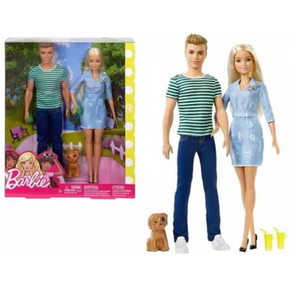Barbie i Ken sa psom FTB72 - ODDO igračke