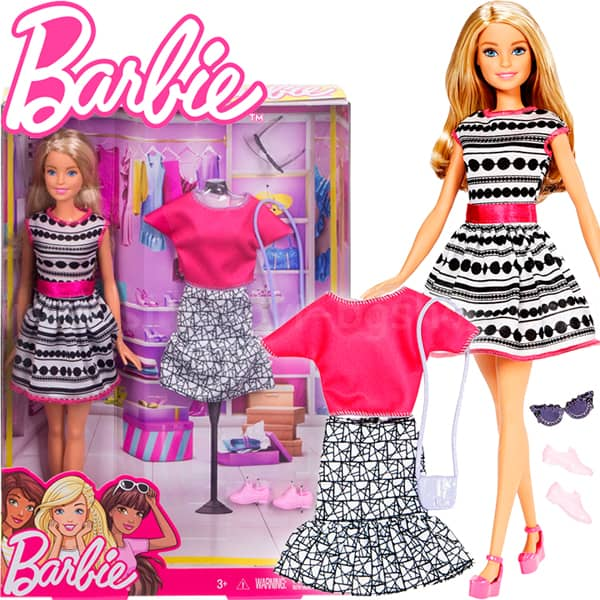 Barbie lutka i fashion set FFF59 - ODDO igračke