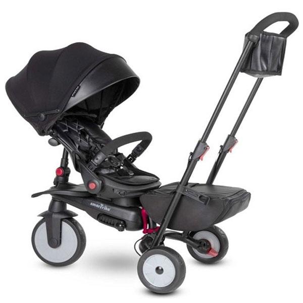 Tricikl sa ručkom i tendom STR7 Urban crni 5501100 - ODDO igračke