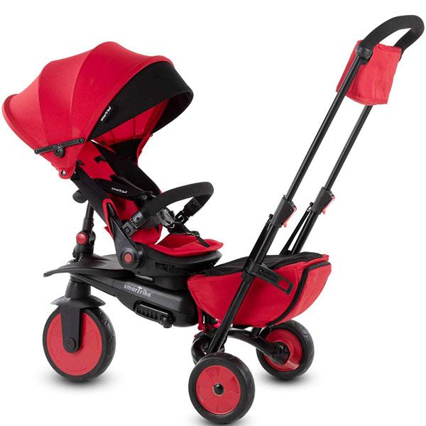 Tricikl sa ručkom i tendom STR7 J Smart Trike crveni 5502202 - ODDO igračke