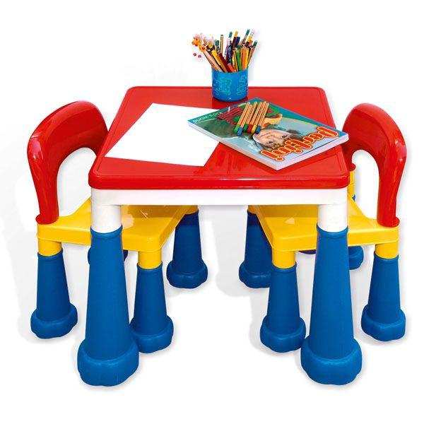 Stočić sa stolicama Kreativno didaktički Pertini 8601N - ODDO igračke