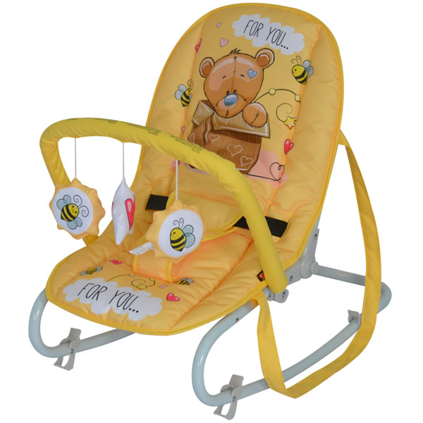 Ljuljaška/ležaljka Top Relax yellow bear 10110021919 - ODDO igračke