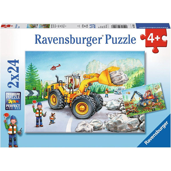 Ravensburger puzzle (slagalice)- Radovi na putu RA07802 - ODDO igračke
