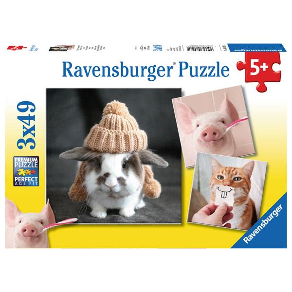 Ravensburger puzzle (slagalice) - Smesne zivorinje portret RA08028 - ODDO igračke
