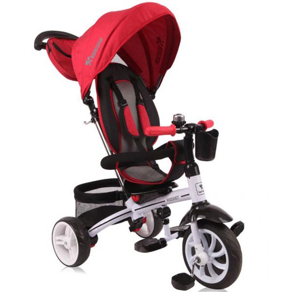 Tricikl sa ručkom i tendom Rocket Red 10050370008 - ODDO igračke