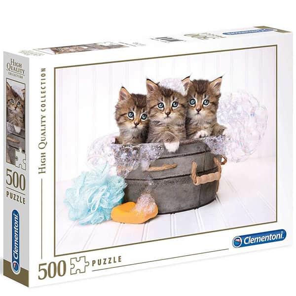 Clementoni puzzle Kittens And Soap 500pcs 35065 - ODDO igračke