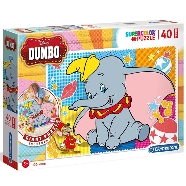 Clementoni puzzle floor kartonske 40pcs Dumbo 25461 - ODDO igračke