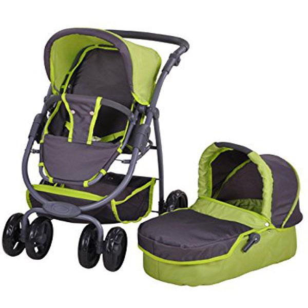 Kolica za lutke Knorr Toys Coco zelena 90783 - ODDO igračke