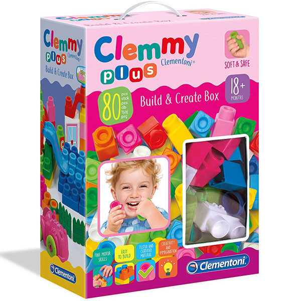 Mekane gumene kocke Clemmy Set 80 kockica Roze CL17258 - ODDO igračke