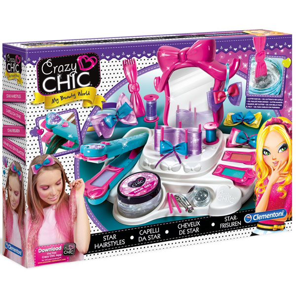 Frizerski set Šareni Crazy Chic Hair Star CL15241 - ODDO igračke