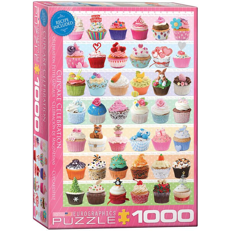 Eurographics Cupcake Celebration 1000-Piece Puzzle - ODDO igračke