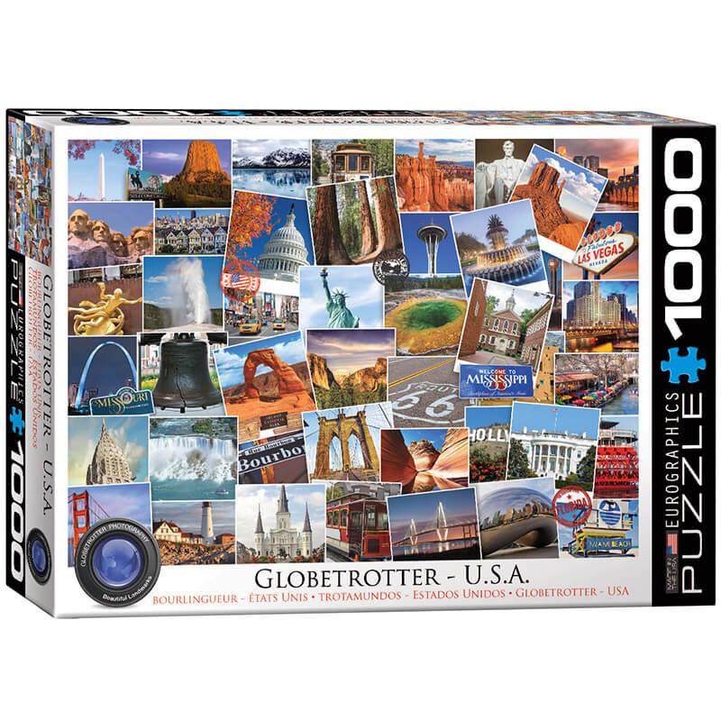 Eurographics Globetrotter USA 1000-Pieces Puzzle 0750 - ODDO igračke