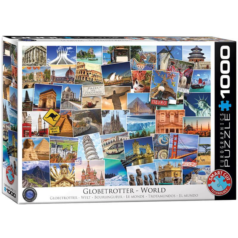 Eurographics Globetrotter World 1000-Piece Puzzle - ODDO igračke
