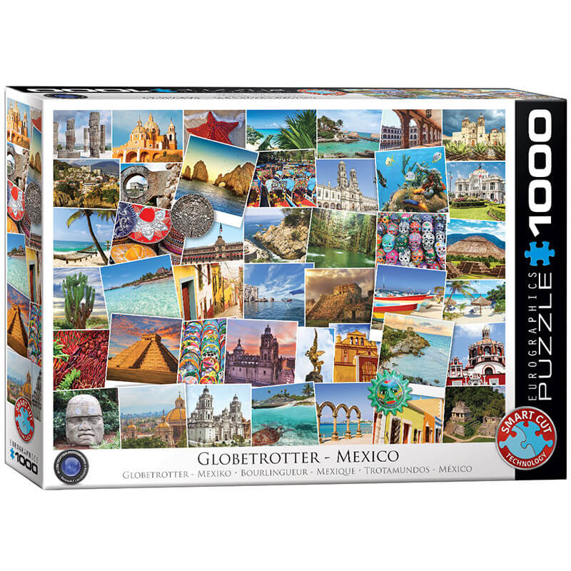 Eurographics Globetrotter Mexico 1000-Pieces Puzzle 0767 - ODDO igračke