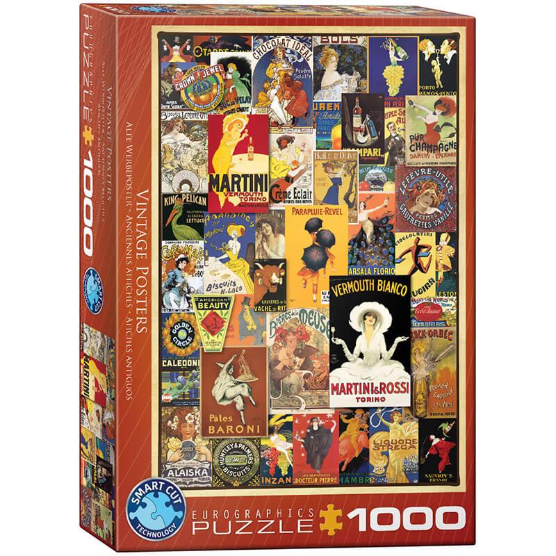 Eurographics Vintage Posters 1000-Piece Puzzle - ODDO igračke