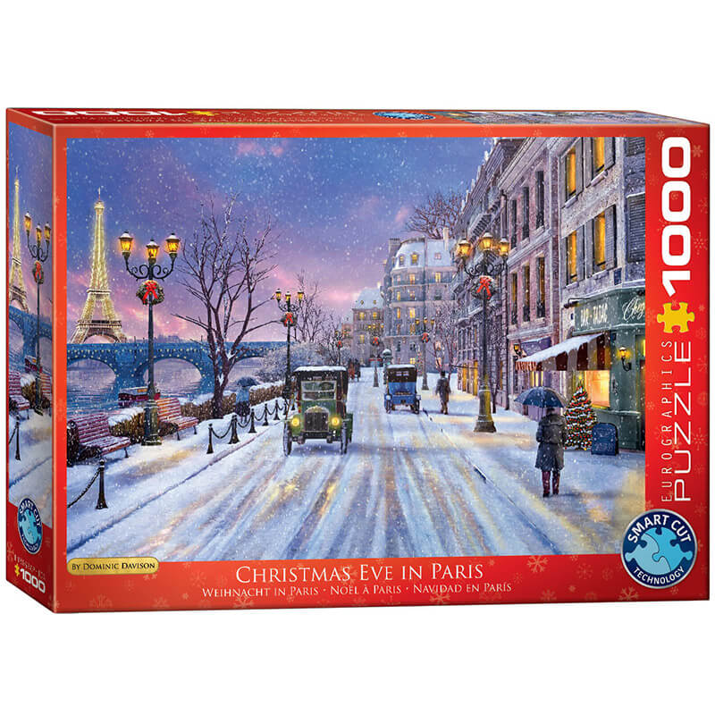 Eurographics Christmas Eve in Paris by Dominic Davison 1000-Pieces Puzzle 0785 - ODDO igračke