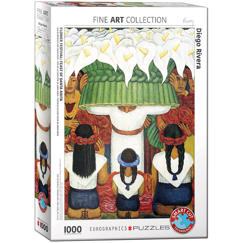 Eurographics Diego Rivera Flower Festival Feast of Saint Anita 1000-Pieces Puzzle 0798 - ODDO igračke