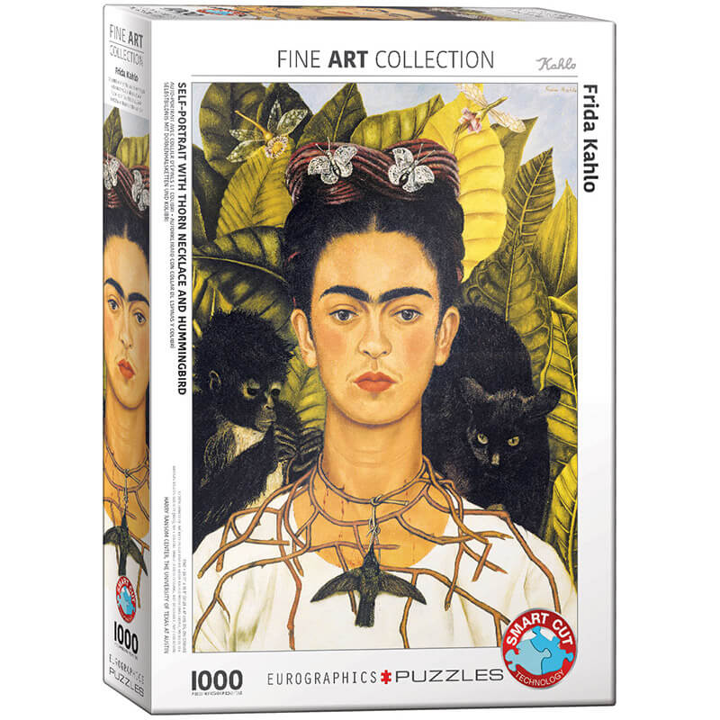 Eurographics Frida Kahlo Self-Portrait with Thorn Necklace and Hummingbird 1000-Piece Puzzle - ODDO igračke