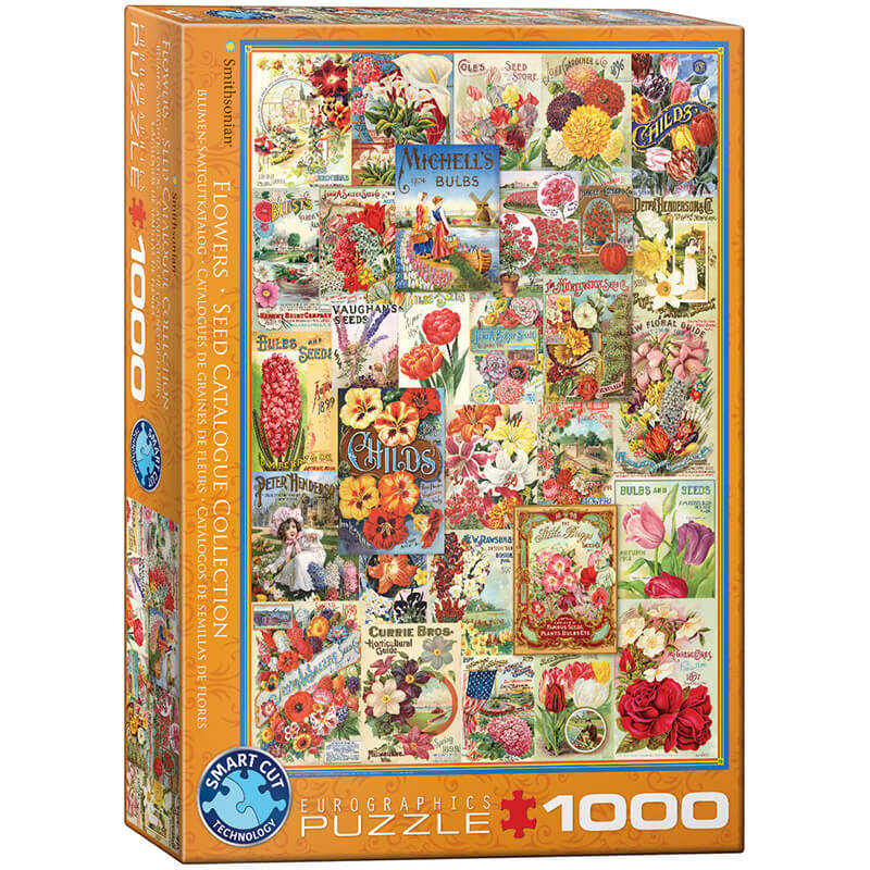 Eurographics Flowers Seed Catalogue Collection 1000-Pieces Puzzle 0806 - ODDO igračke
