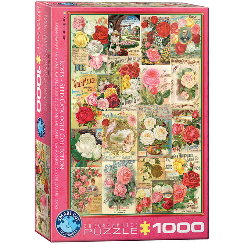 Eurographics Roses Seed Catalogue Collection 1000-Piece Puzzle - ODDO igračke
