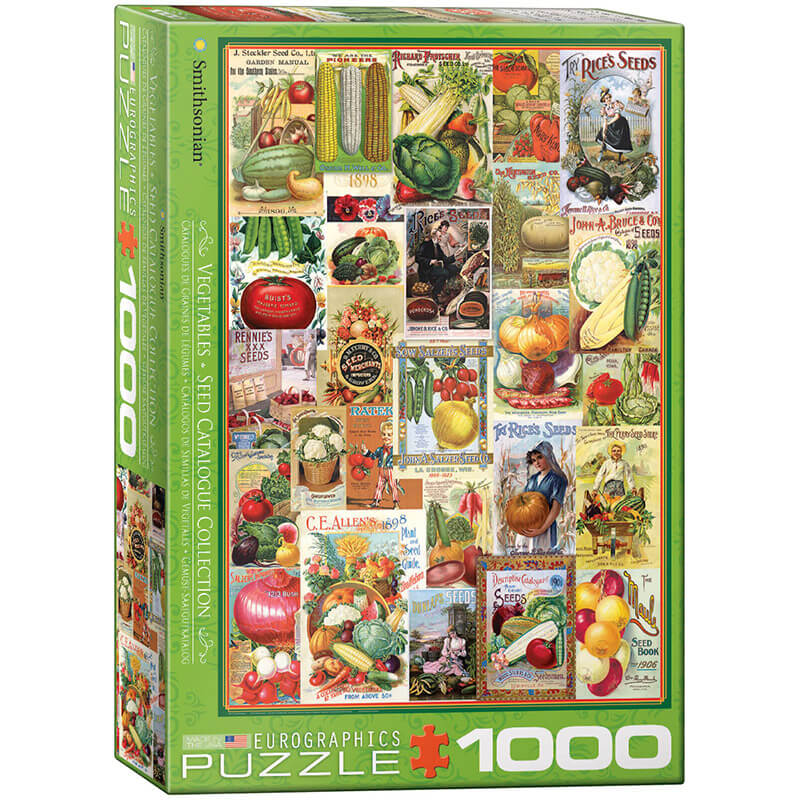 Eurographics Vegetables Seed Catalogue Collection 1000-Pieces Puzzle 0817 - ODDO igračke