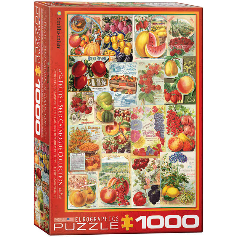 Eurographics Fruits Seed Catalogue Collection 1000-Pieces Puzzle 0818 - ODDO igračke
