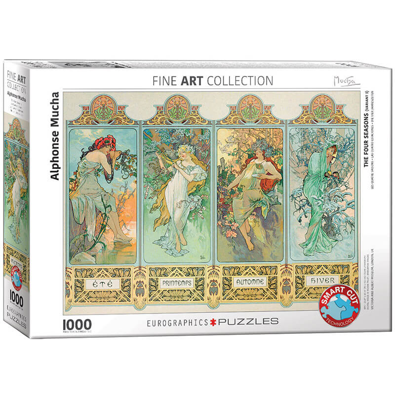 Eurographics Alphonse Mucha The Four Seasons (Variant 3) 1000-Piece Puzzle - ODDO igračke