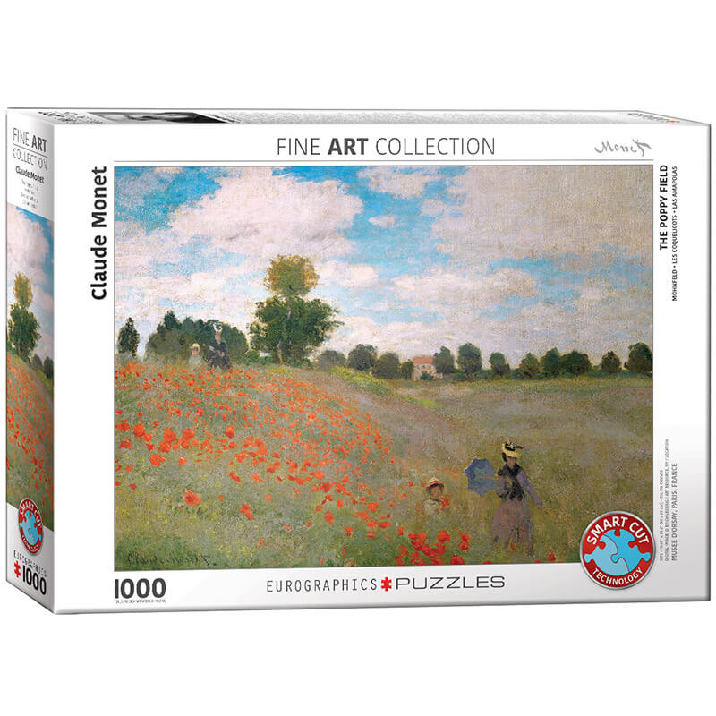 Eurographics Claude Monet The Poppy Field 1000-Piece Puzzle - ODDO igračke