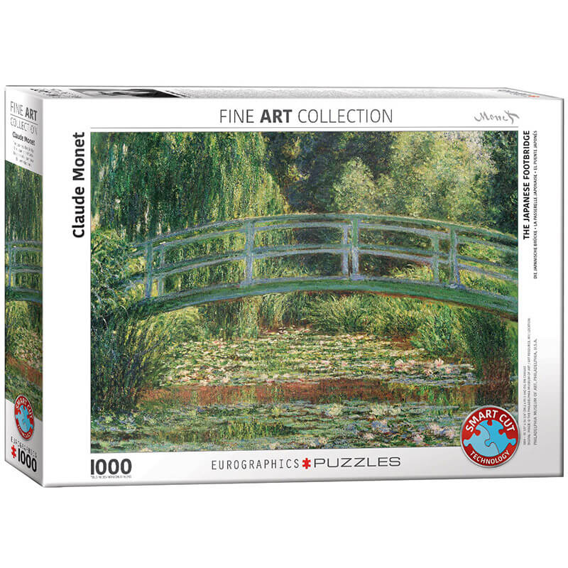 Eurographics The Japanese Footbridge by Claude Monet 1000-Piece Puzzle - ODDO igračke