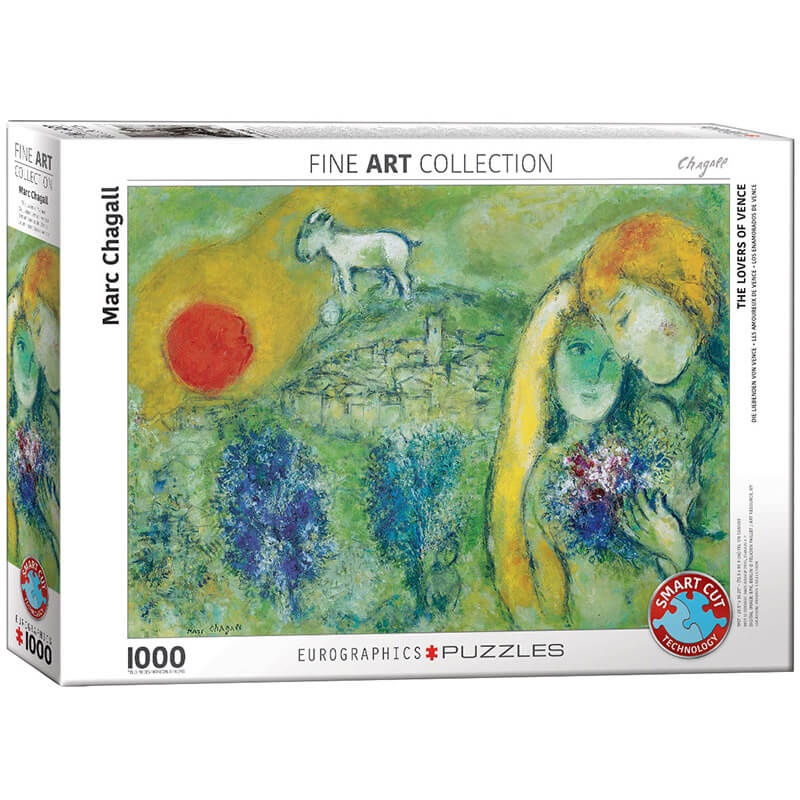 Eurographics The Lovers of Vence by Marc Chagall 1000-Piece Puzzle - ODDO igračke