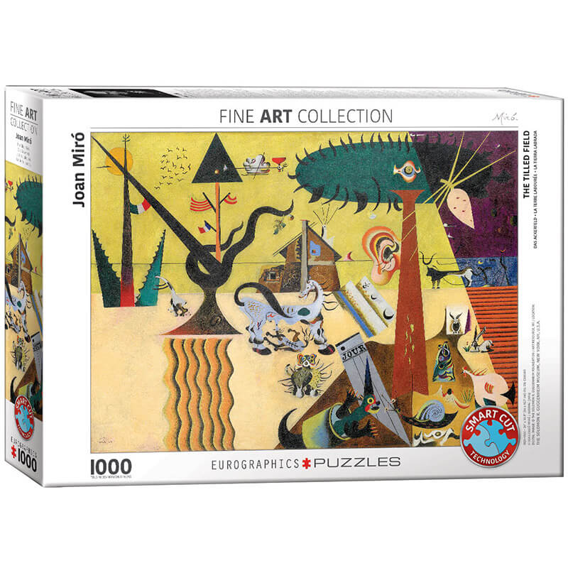 Eurographics The Tilled Field by Joan Miro 1000-Piece Puzzle - ODDO igračke