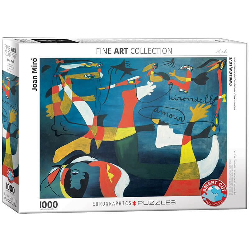 Eurographics Joan Miro Swallow Love 1000-Piece Puzzle - ODDO igračke