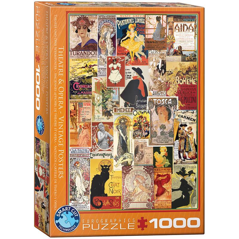 Eurographics Theater & Opera Vintage Posters 1000-Piece Puzzle - ODDO igračke