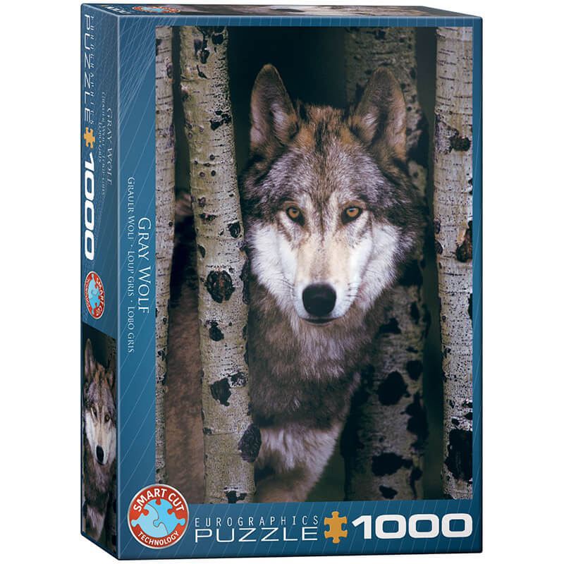 Eurographics Animals Gray Wolf 1000-Piece Puzzle - ODDO igračke