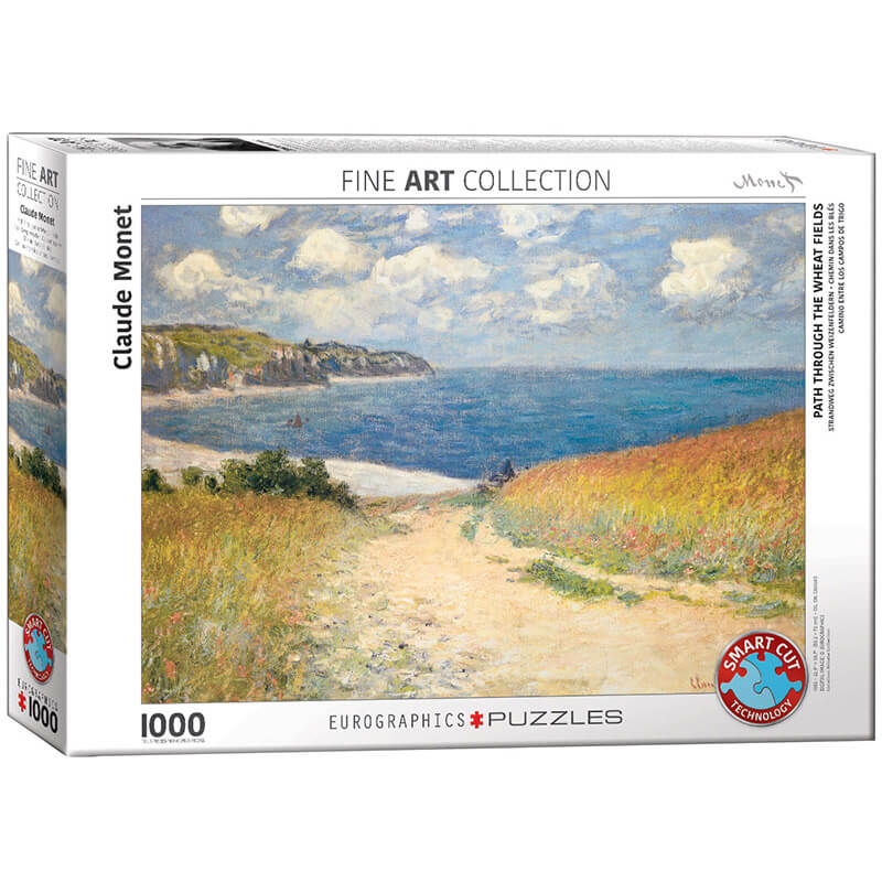 Eurographics Claude Monet Path through the Wheat Fields 1000-Piece Puzzle 6000-1499 - ODDO igračke